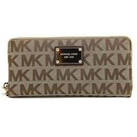 Michael Kors Beige Black Gold Continental Wallet