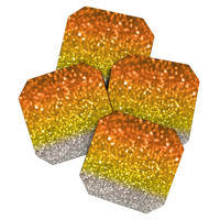 Lisa Argyropoulos Candy Corn Bokeh Coaster Set
