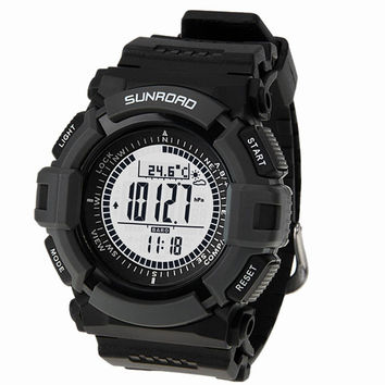 Men's sport Digital-watch SUNROAD Sports Watch FR820A Altimeter Barometer Compass Thermometer Weather Pedometer Digital Watch