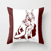 Reveille Throw Pillow by Halfmoon Industries