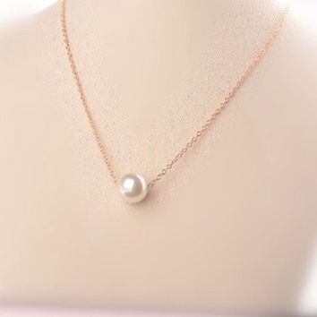Floating Pearl Necklace Stocking Stuffer Bridesmaid Gift DIY