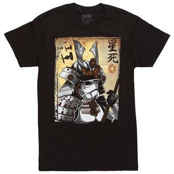 Star Wars Samurai Stormtrooper Kanji Licensed Adult Unisex T-Shirt - Black