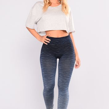Fernanda Seamless Active Leggings - Blue