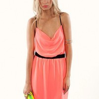 Cowl Cross Dress | Shop Neon Clothing at MessesOfDresses.com