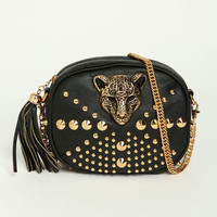 STUDDED LEOPARD PURSE
