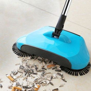 DCCKFS2 Stainless Steel Sweeping Machine Push Type Hand Push Magic Broom Dustpan Handle Household Cleaning Package Hand Push Sweeper mop