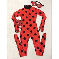 The Miraculous Ladybug Costume Kids Halloween Costume For Girls Marinette Cat Noir Cosplay Costume Full Body Zentai Tight Suit