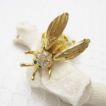 Vintage Trembler Bug Brooch Insect Jewelry P6450