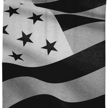 Patriotic everyday, US flag pencils shower curtain, America in inverted BW, stylish bathroom