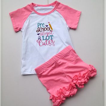 Cute Pre School outfit with ruffles shorts