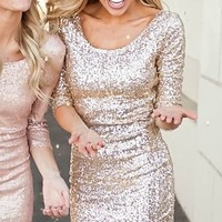Sparkles New Years Dress Gold