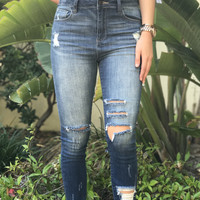 Veronica Distressed High Waisted Jeans