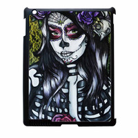 Floral Sugar Skull Day Of The Dead iPad 3 Case