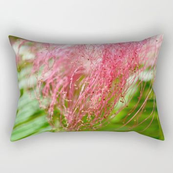 Pink Costa Rican Flower Rectangular Pillow by UMe Images