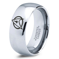 Star Trek Silver Tungsten Ring