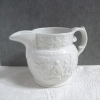 Vintage Milk Pitcher T.G. Green Ironstone Made in England Hunt Club English White China Kitchen Decor