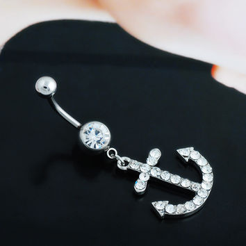 Accessory Crystal Diamonds Belly Ring [6768809159]