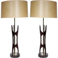 Irwin Feld Design PAIR OF MID CEN KAGAN STYLE LAMPS - Antique Lighting - Modenus Catalog