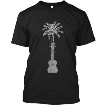Funny Palm Tree Ukulele Shirt Beach Music Lover Cool T-shirt Custom Ultra Cotton