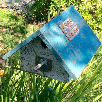 Vintage Wood Birdhouse