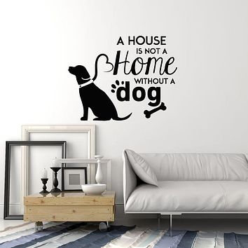 Vinyl Wall Decal Dog Lover Quote Pet Saying Home Decoration Idea Stickers Mural (ig6031)