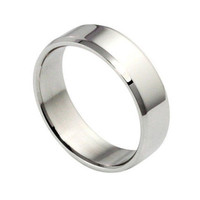 Simple Men Stainless Steel Ring Band