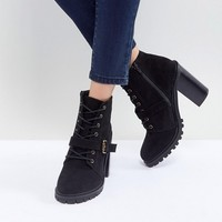 Faith Lace Up Mid Height Hiker Boot at asos.com