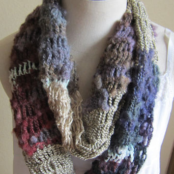 Crochet Cowl,Infinity Scarf,Hooded Scarf made with Red Heart Boutique Magical Yarn in Crystal Ball Beautiful Colors