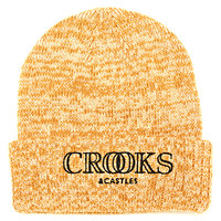 Crooks And Castles Ballin Mane Beanie - Speckle Gold at Urban Industry