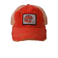 Judith March Gameday Hat Red & Black (Red)