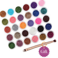 30Pcs/Set Hot Sale New Beauty 30 Mixed Colors Eyeshadow Powder Pigment Glitter Mineral Spangle Nail Makeup Cosmetic Maquiagem