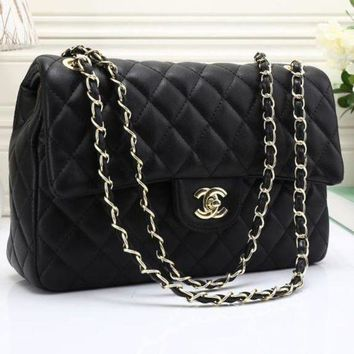 DCCKR8D CHANEL Women Shopping Leather Metal Chain Crossbody Shoulder Bag