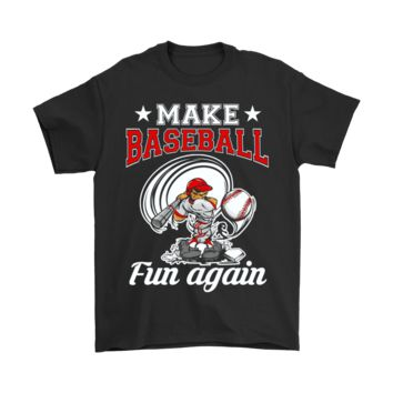 ESB8HB Make Baseball Fun Again Swing And Miss Shirts