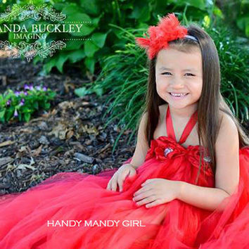 "The ""Heidi ""dress-Lady in red gorgeous tutu dress"