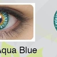 CLEO Non Prescription Color Contact Lenses - Aqua Blue - Oralten