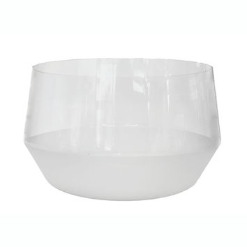 Morandi Frost Glass Punch Bowl