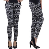 Animal Printing Double Layered Fleece Leggings