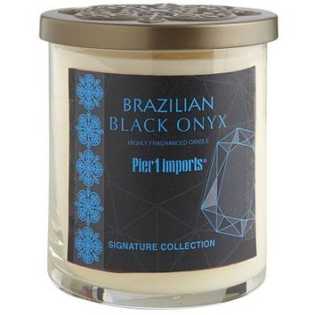 Brazilian Black Onyx Filled Candle