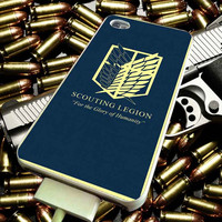 attack on titan scounting legion for iPhone 4/4s/5/5s/5c/6/6 Plus Case, Samsung Galaxy S3/S4/S5/Note 3/4 Case, iPod 4/5 Case, HtC One M7 M8 and Nexus Case ***