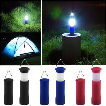 3 Colors 3W Tent Camping Lantern Light Hiking LED Flashlight Torch Outdoor Lamp