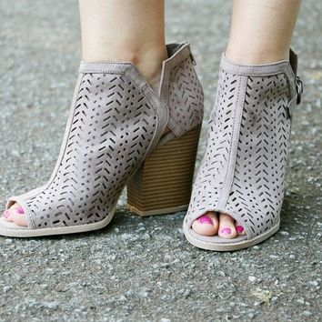 The Blair Bootie - Taupe