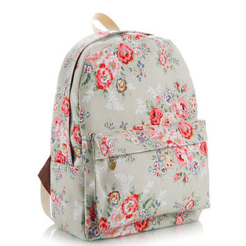 Cute Canvas Korean Lovely Backpack = 4887575876