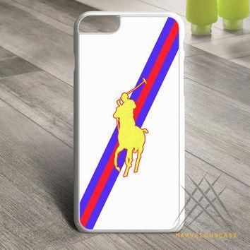 Polo Ralph Lauren Red Blue Stripe Logo Custom case for iPhone, iPod and iPad