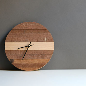 Handcrafted modern round wall clock