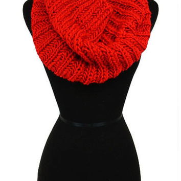 Rola Knit Scarf- Red