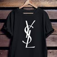 """YSL""Hot letters print T-shirt top"