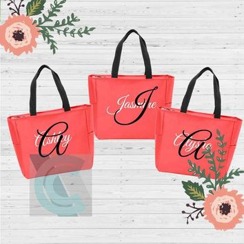 Bridesmaid Tote bag, Personalized Bridesmaid bags, Bachelorette Party bags, Bridesmaid gifts, Custom Tote bags, Stagette ideas