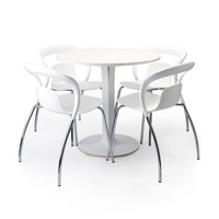 Una Bistro Table - White -17%