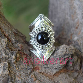 Black Onyx Ring, Black Stone Ring, Silver Ring, Black Silver Ring, Black Onyx Jewelry, Sterling Silver Ring, Size 4,5,6,7,8,9,10,11,12,13,14