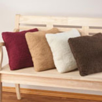 Sherpa Throw Pillow by OakRidge Comforts